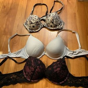 3 BRA LOT 34B 2 Victorias Secret 1 PINK